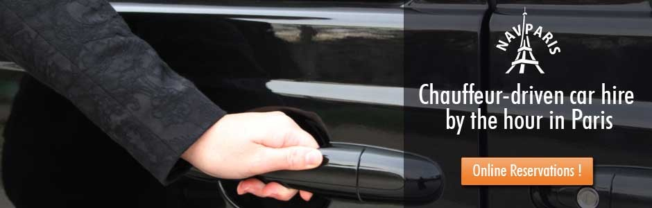 Chauffeur-driven car hire by the hour in Paris