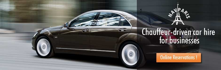 Chauffeur-driven car hire for businesses